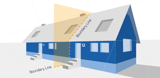 Party Wall illustration for Brecon Surveyors